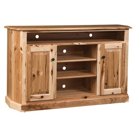 rustic hickory tv stand amish crafted furniture