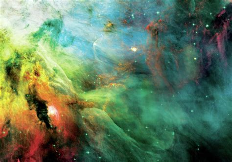 rainbow orion nebula photograph  jennifer rondinelli