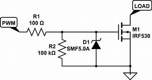 solenoid simple esd protection for mosfets electrical With mosfet protection circuit