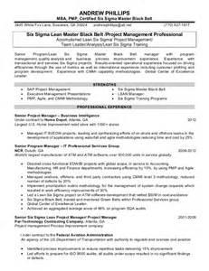 six sigma black belt resume sle andrew phillips resume jan102013