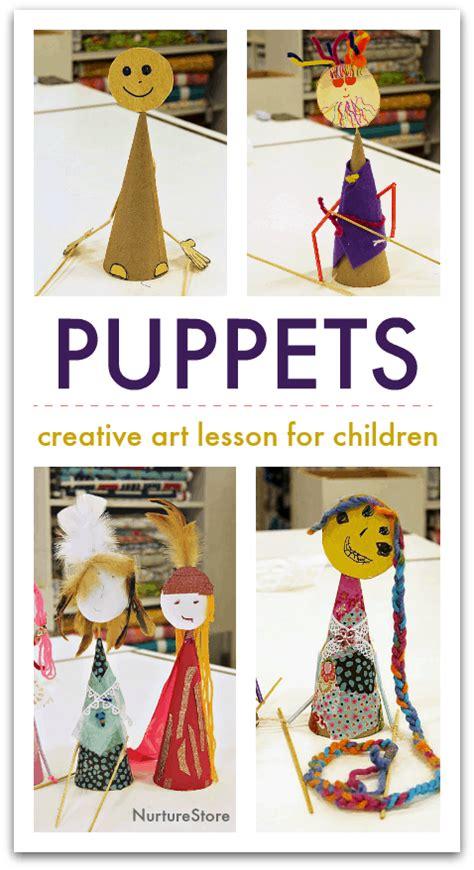 rod puppet art lesson  children cute
