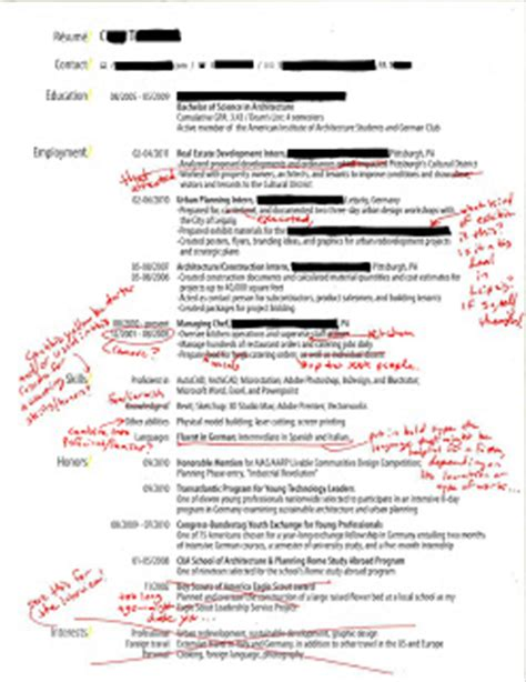 Appropriate Hobbies To List On A Resume by Intern 101 Redlined Resumes Straightforward Clear And Sharp