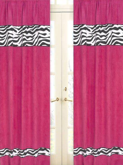 black and pink curtains pink black zebra print window curtains drapes set