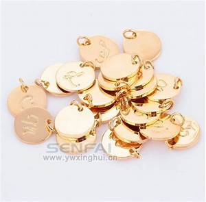 wholesale top quality a z gold plated charms letter stamp With gold letter charms wholesale