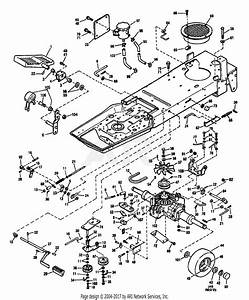 Troy Bilt 13027 14hp Hydro Suburban Tractor  S  N 130270100101  Parts Diagram For Hydrostatic
