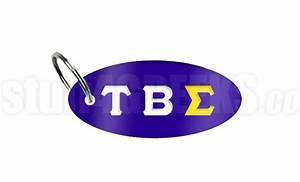 Tau beta sigma key chain with greek letters royal blue for Tau beta sigma letters