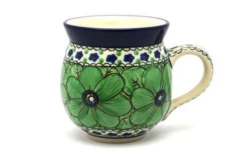 The mug is made using wiggle wires that create unique ribbed. Polish Pottery Mug - 11 oz. Bubble - Unikat Signature U408A 070-U408A