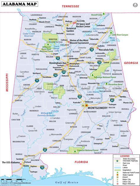 alabama map    printable map  alabama