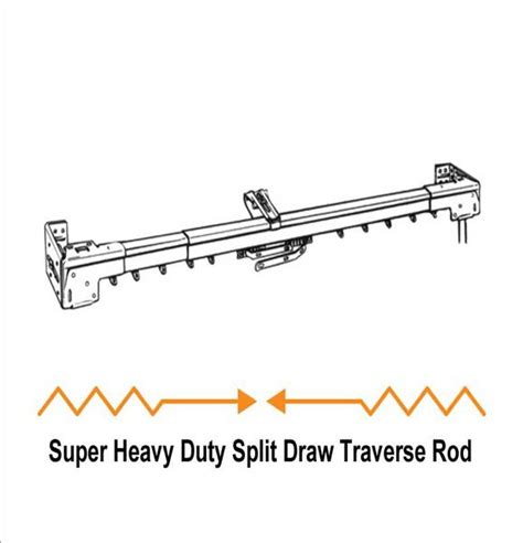 Traverse Curtain Rods Heavy Duty by Graber Heavy Duty Split Draw Traverse Curtain Rod