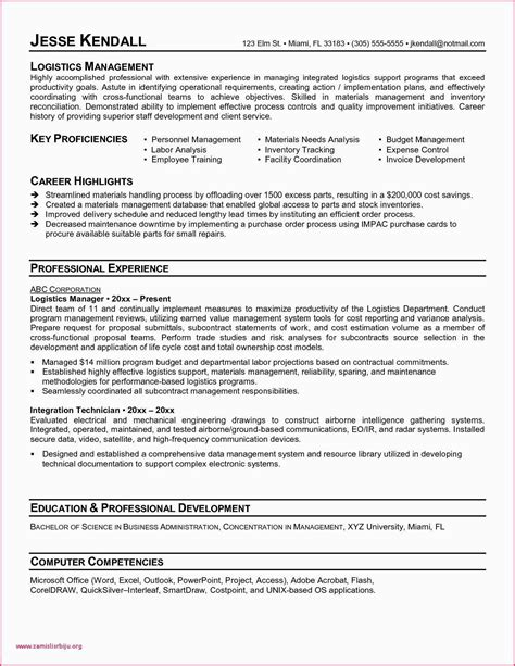 Coordinator Resume Objective by Logistic Coordinator Resume Sle Logistic Coordinator