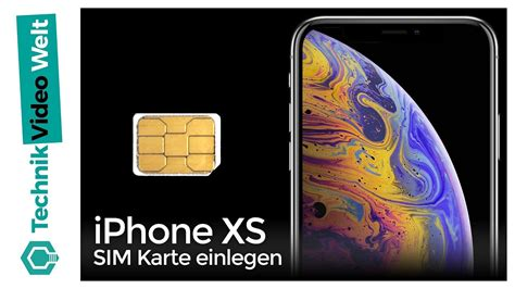 iphone xs sim karte einlegen youtube