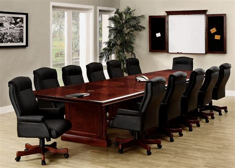 14 foot expandable boat shaped rectangle conference tables