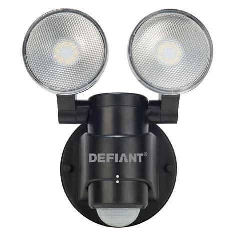 defiant lighting customer service defiant 180 degree 2 head black motion activated outdoor