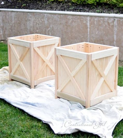 Big White Planters by Diy Criss Cross Outdoor Planters Outdoors Upph 246 Jda