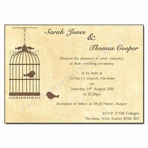 vintage birdcage wedding invitations buy now with free With wedding invitations in one day