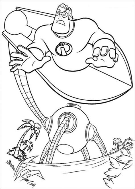 fun coloring pages the incredibles coloring pages