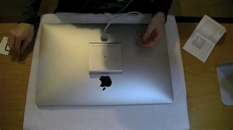 fitting  vesa mount adaptor   apple  cinema display youtube