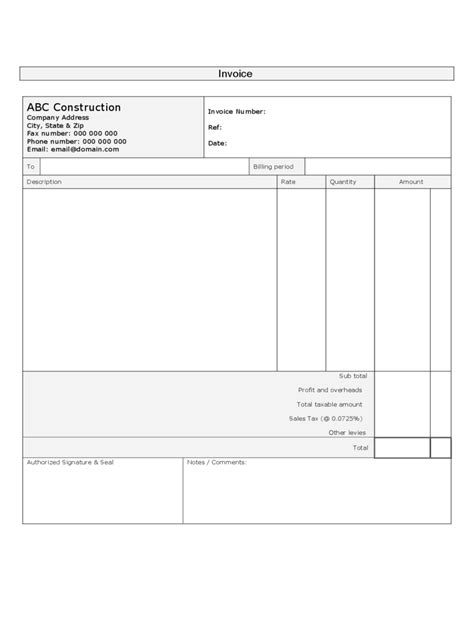 construction forms   templates   word excel