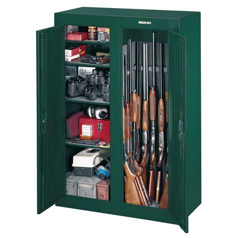 stack on gun cabinet door organizer stack on 16 gun double door security cabinet hunter