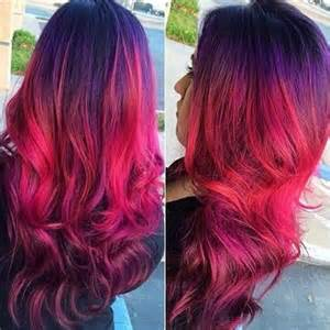 Dark Red Purple Ombre Hair Color