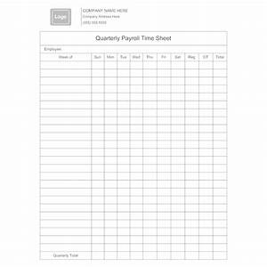 Examples Of Attendance Sheets Quarterly Payroll Time Sheet