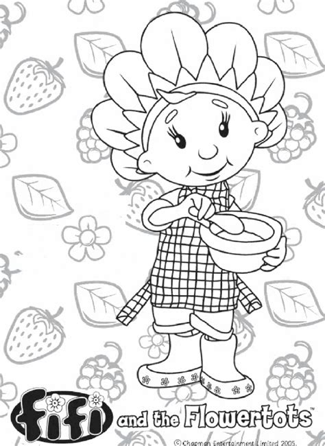 kids n fun com 19 coloring pages of fifi and the flowertots