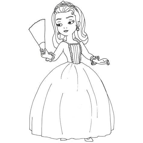 princesa sofia desenhos  colorir