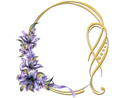 Descargar marcos de flores con Lirios color morado para