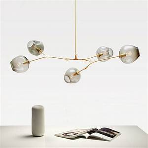 Modern glass pendant light nordic dining room kitchen for 5 lamp kitchen light