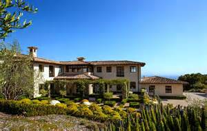 luxurious tuscan style malibu villa by paul brant williger - Italian Style Home Plans