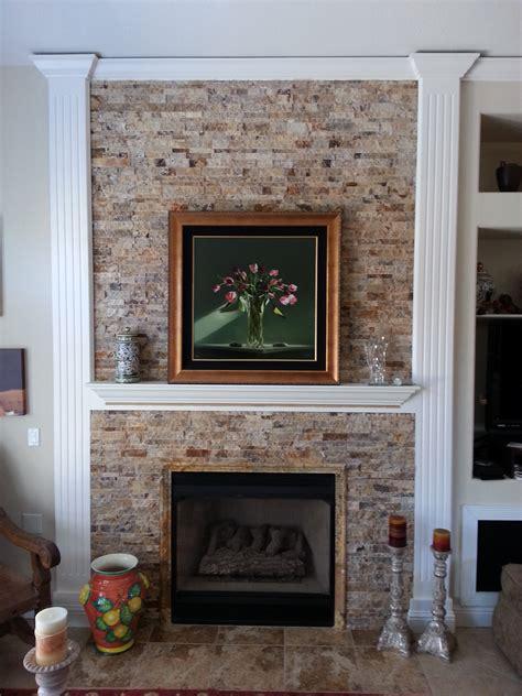 split fireplace burnett tile and stone scabos split face fireplace