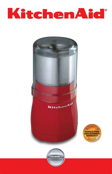 KitchenAid Coffee Grinder 2633 User Guide   ManualsOnline.com
