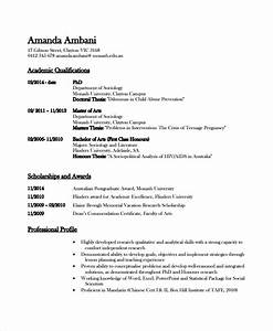 Academic resume template 6 free word pdf document for Academic resume template word
