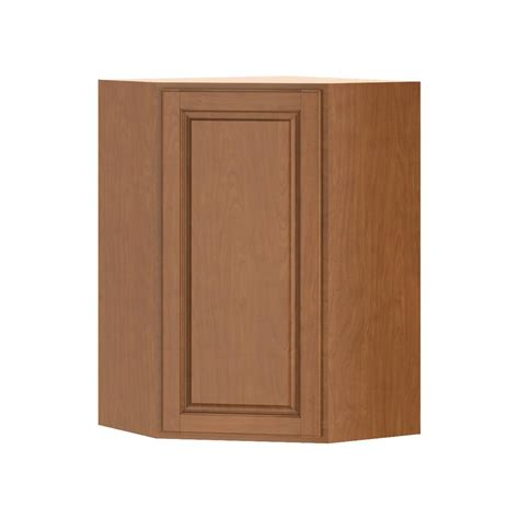 home depot cognac cabinets hton bay madison assembled 24x36x24 in corner wall