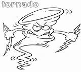 Tornado Coloring Pages Angry Cartoon Printable Template Outline Categories Coloringonly sketch template