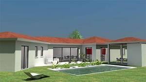 Maison Plain Pied En L : la maison plain pied moderne ~ Melissatoandfro.com Idées de Décoration