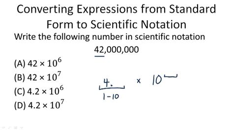Back To Standard Form Scientific Notation