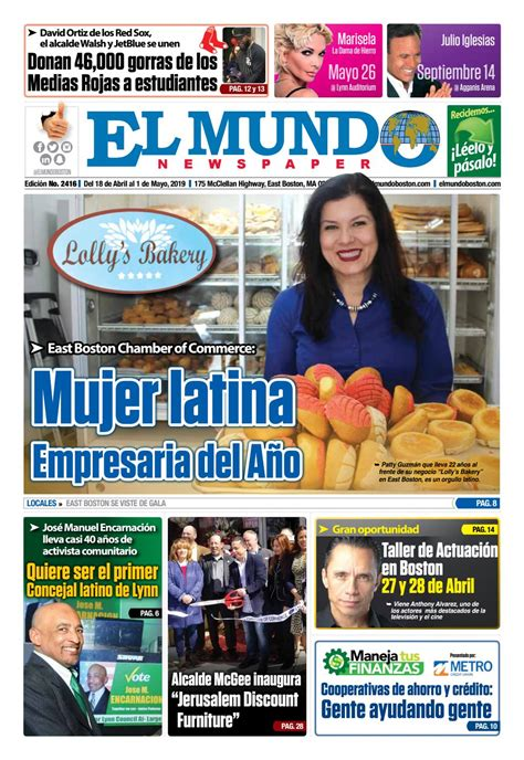 El Mundo Boston Newspaper April 18 2019 by El Mundo