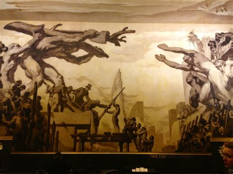 Diego Rivera Rockefeller Center Mural Controversy by The Second Fresco Mural That Was Done One By Diego