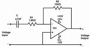 How to build an active high pass filter circuit with an op amp for High pass circuit