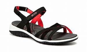 Ecco sandalen damen schwarz