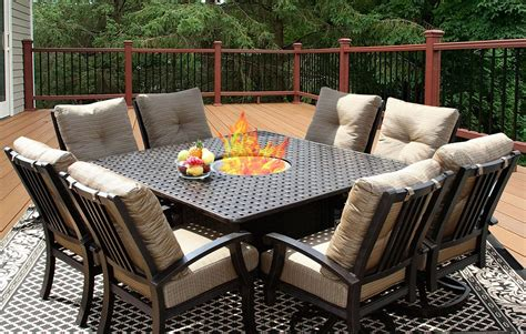8 person patio table barbados cushion 64x64 square outdoor patio 9pc dining set