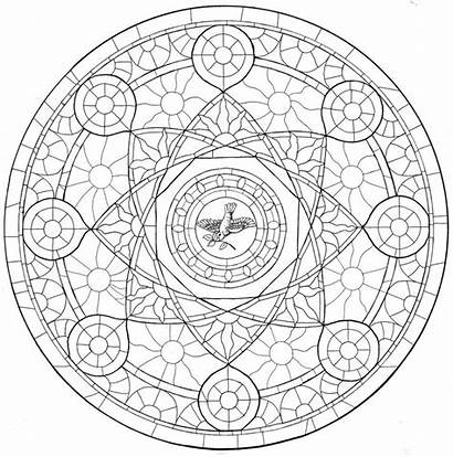 Rose Window Outline Clipart Library Drawing Inked