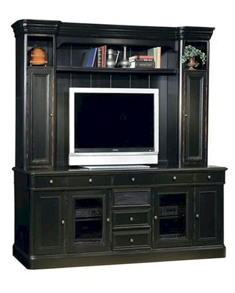 tv credenza black black 88in entertainment credenza w hutch by hekman he
