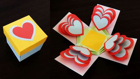 heart explosion box learn     easy exploding