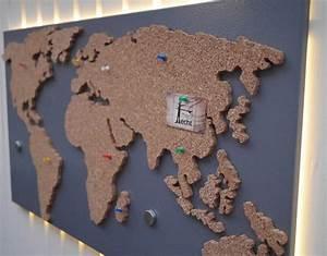 Pinnwand Weltkarte Kork : magnetische pinnwand aus kork als weltkarte pinnw nde weltkarte und dawanda ~ Markanthonyermac.com Haus und Dekorationen