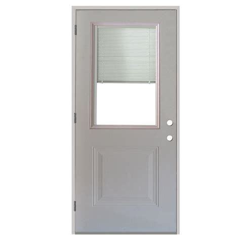 The benefits of this door with built in blinds come complete with a. Steves & Sons 36 in. x 80 in. 1-Panel 1/2 Lite Mini-Blind ...
