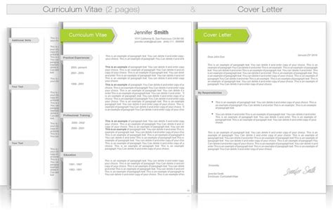 Professional Curriculum Vitae Template Doc by Cv Template Cv Template Package Includes Professional Layout For 3 Pages In Doc File