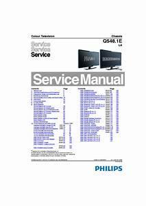 Philips 37pfl8404 Chassis Q548 1e La Sm Service Manual
