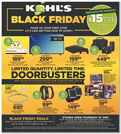 report kohl s black friday 2017 offerings leaked